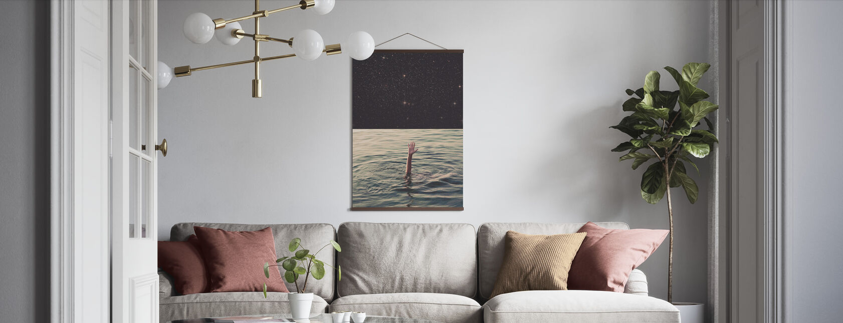 Drowned in Space - Poster - Living Room