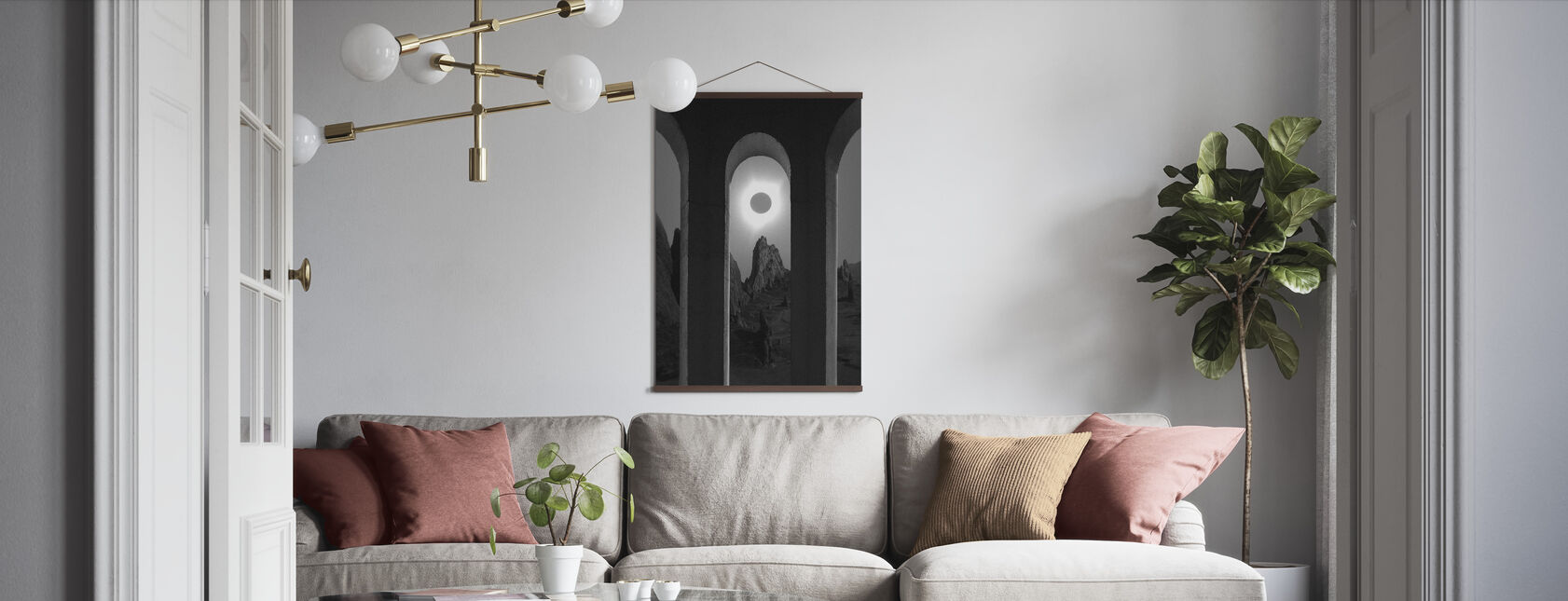 Black - Poster - Living Room