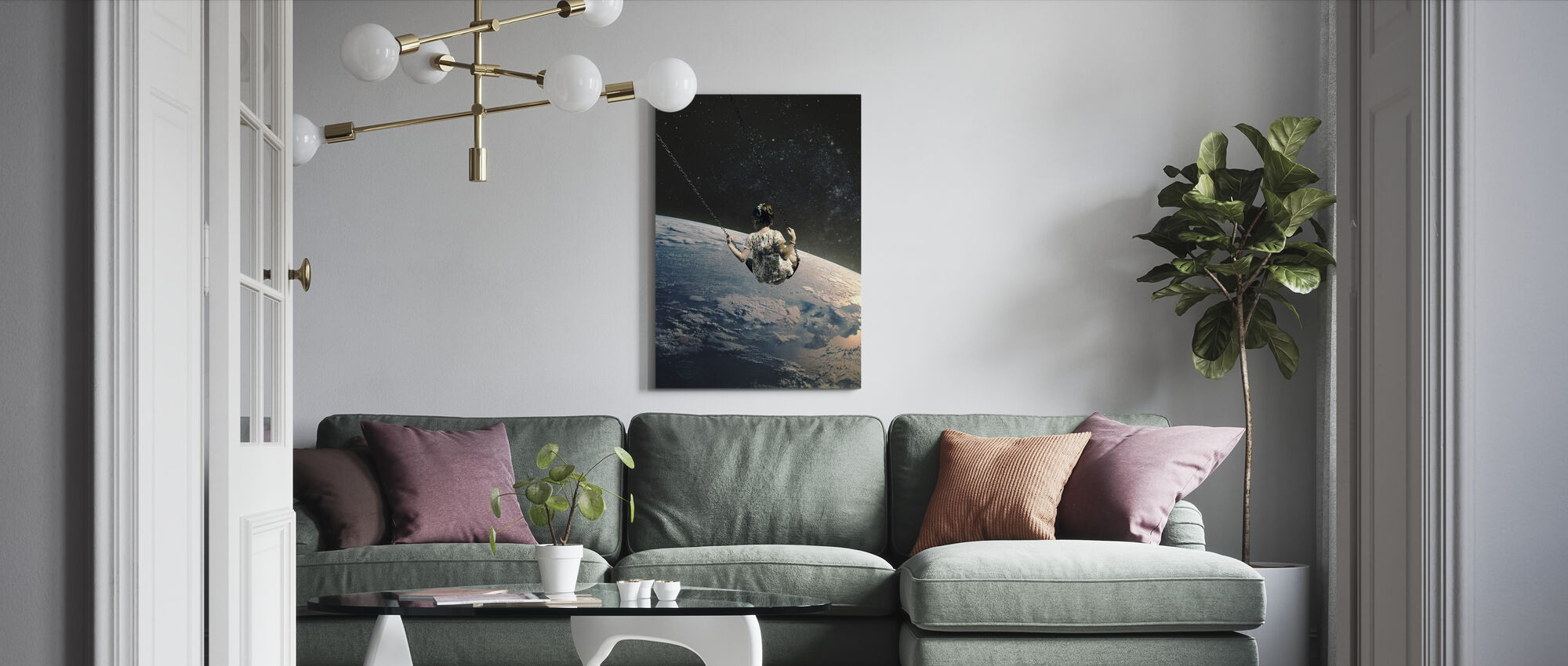 Swing - Canvas print - Living Room