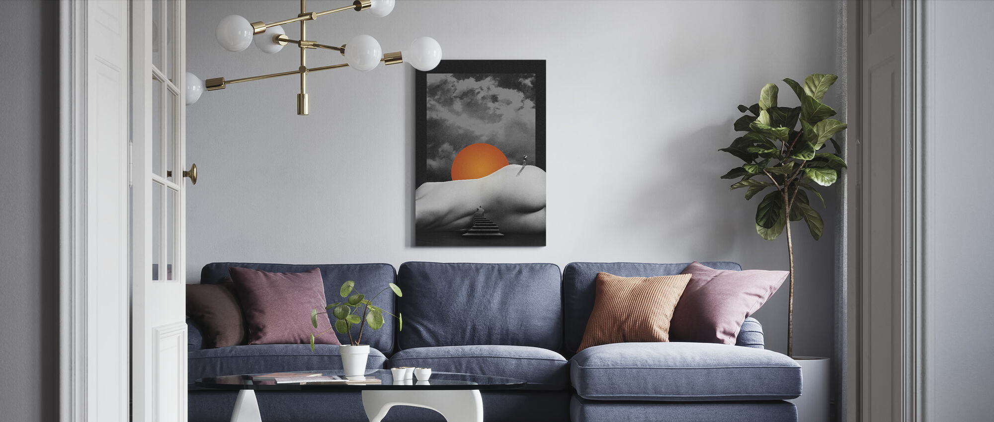 Temple - Canvas print - Living Room