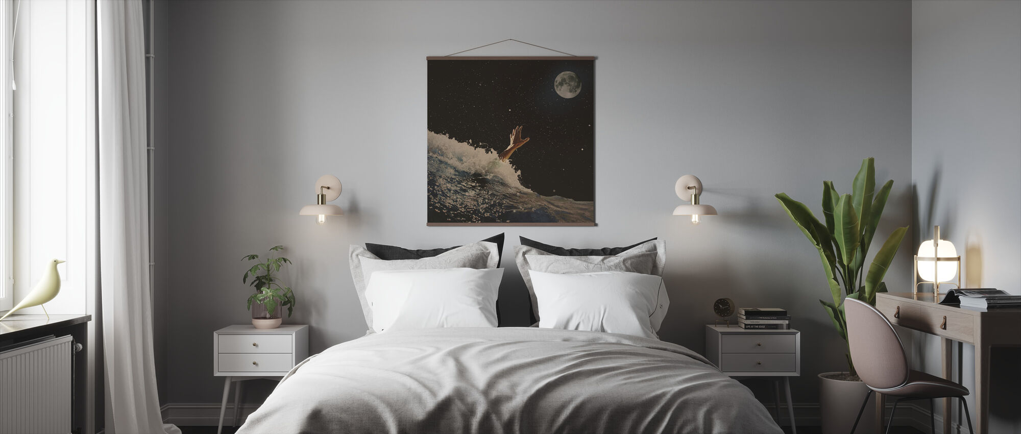 Wave Vaarwel - Poster - Slaapkamer