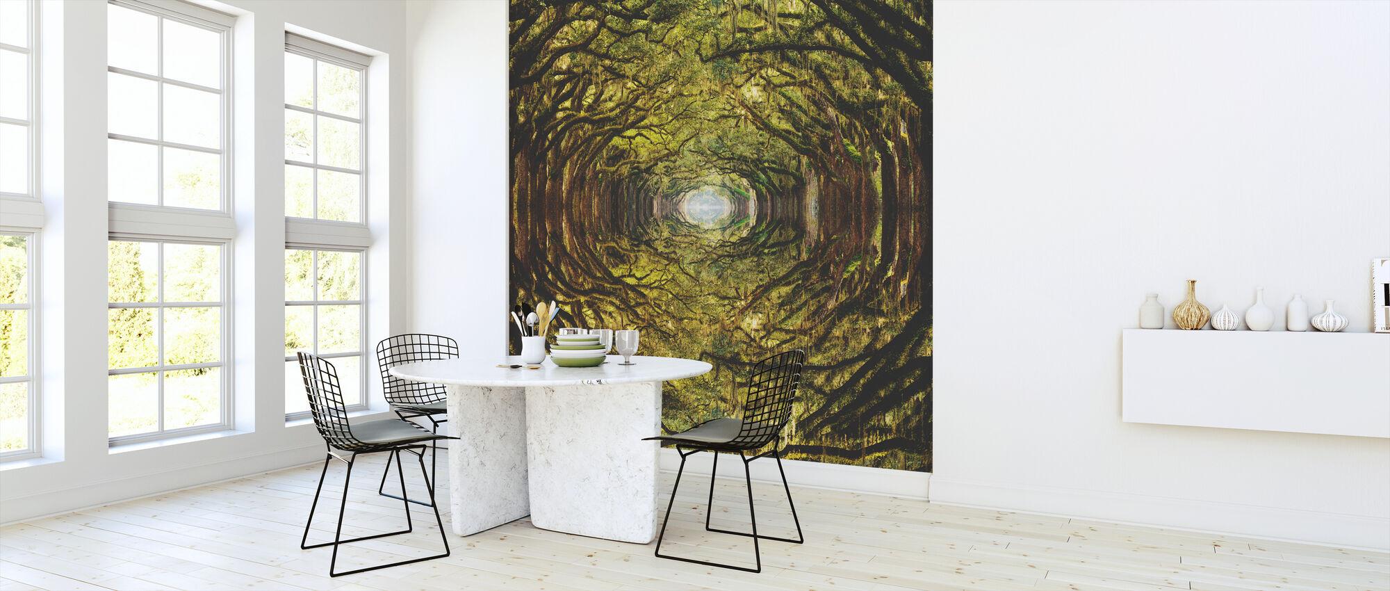 En el bosque - Papel pintado - Cocina