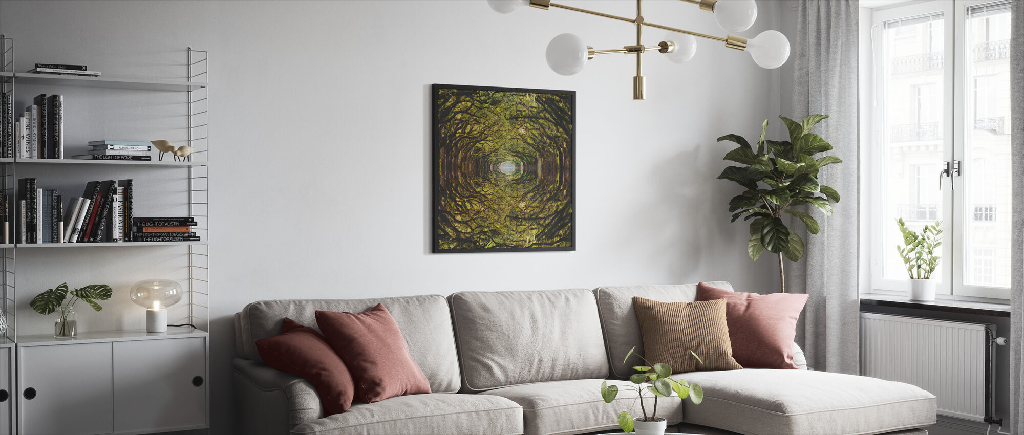 Woods - Framed print - Living Room