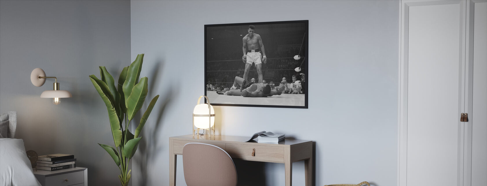 Muhammad Ali vs Sonny Liston - Framed print - Bedroom