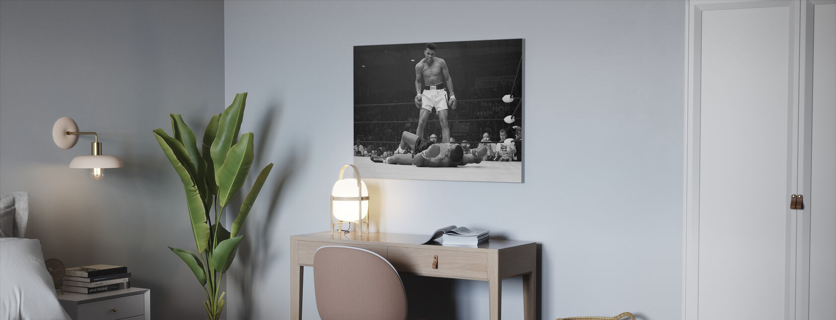 Muhammad Ali vs Sonny Liston - Impression sur toile - Bureau