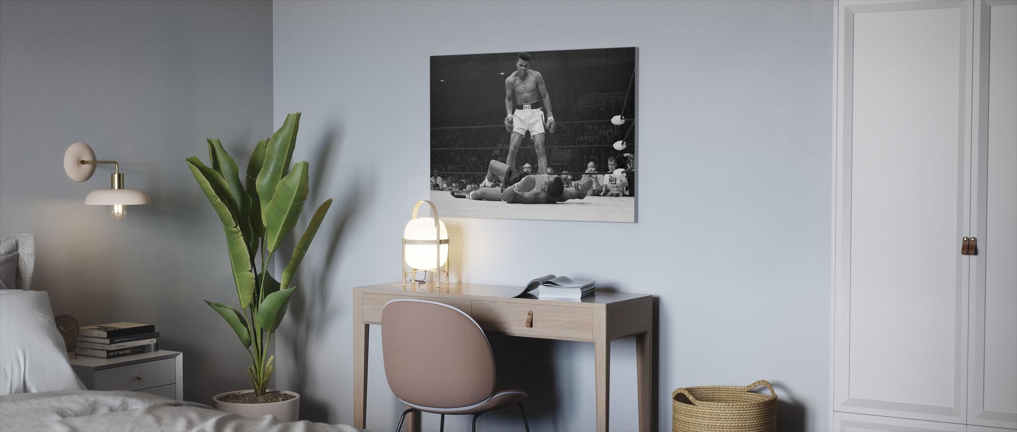 Muhammad Ali vs Sonny Liston - Canvas print - Kantoor