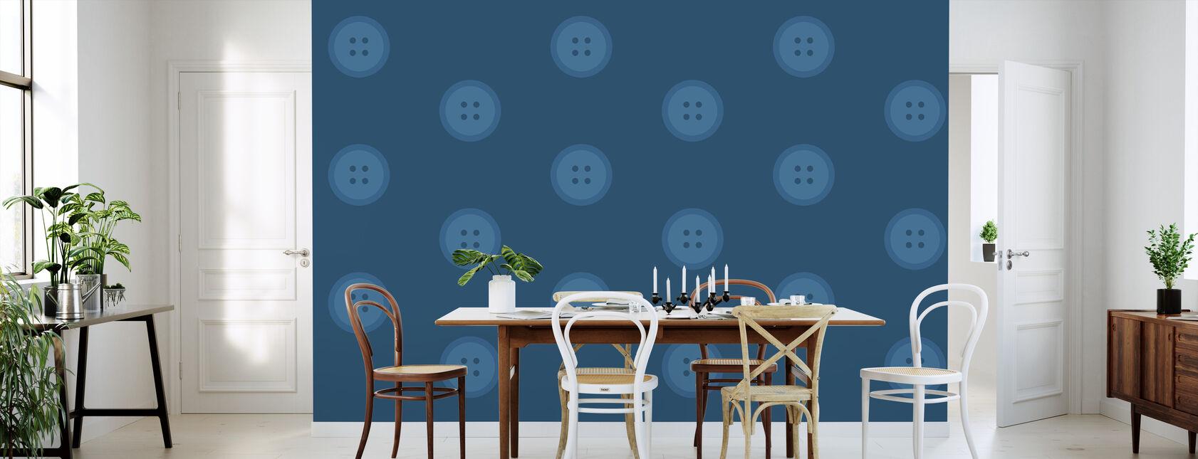 Blue Buttons - Wallpaper - Kitchen