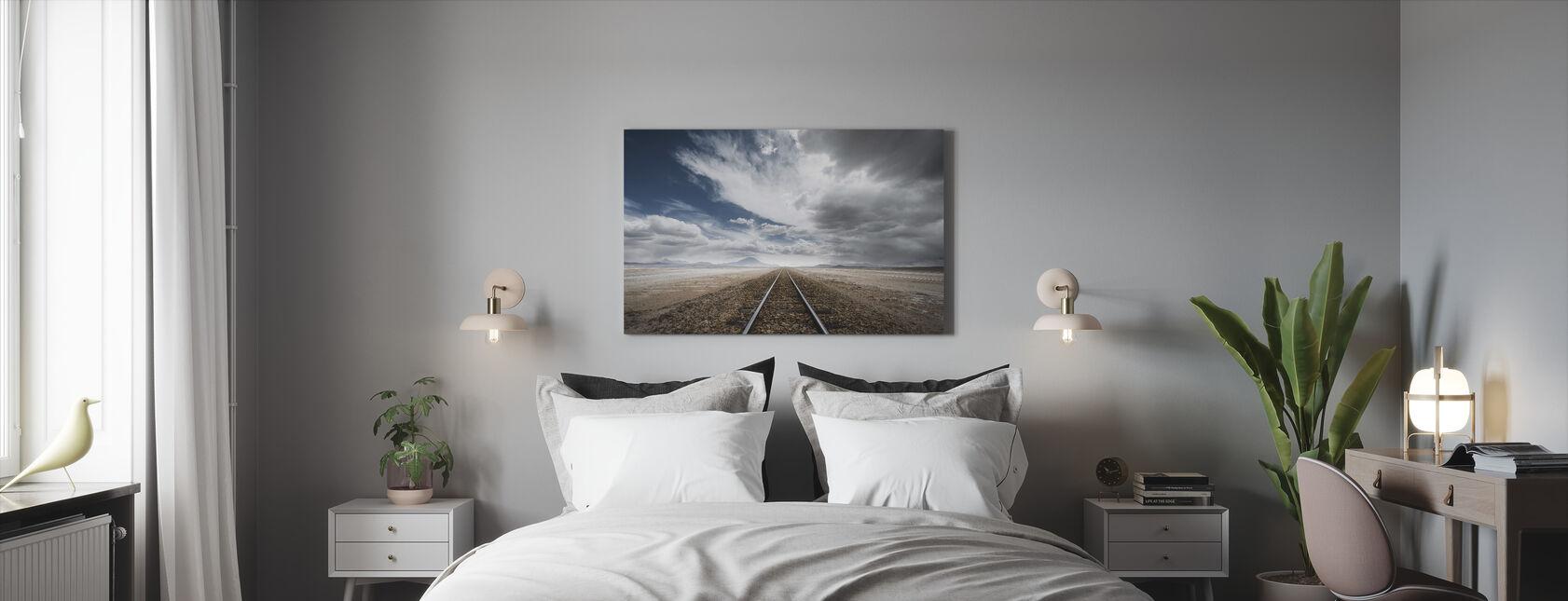 Camino largo - Lienzo - Dormitorio