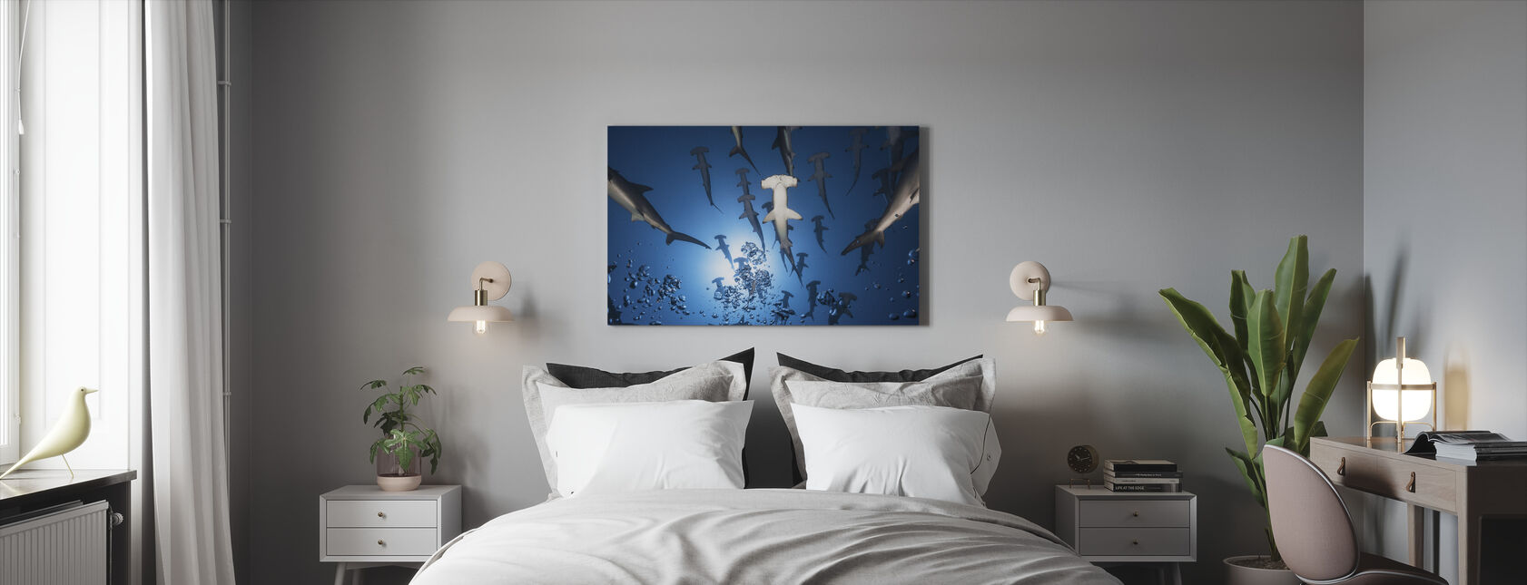 Hammerhead Shark - Canvas print - Bedroom