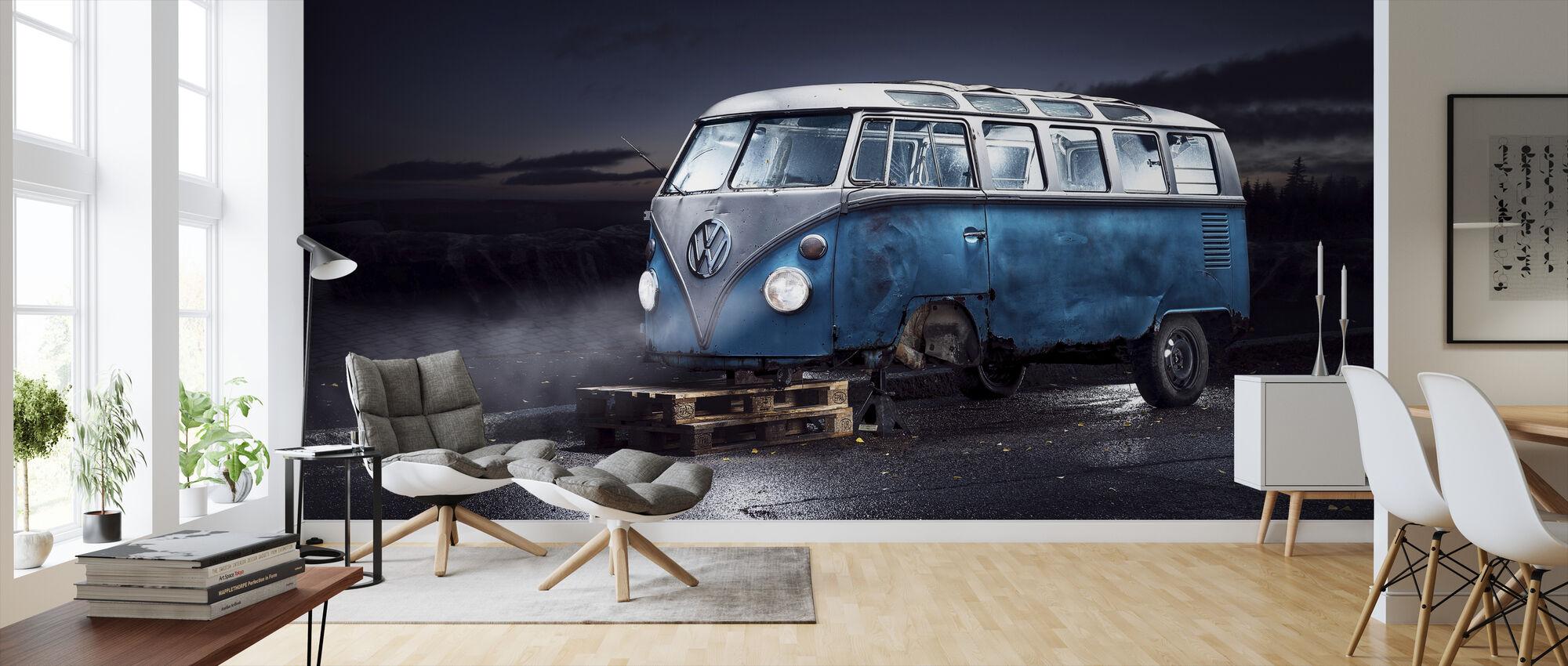 VW minibus - Wallpaper - Living Room