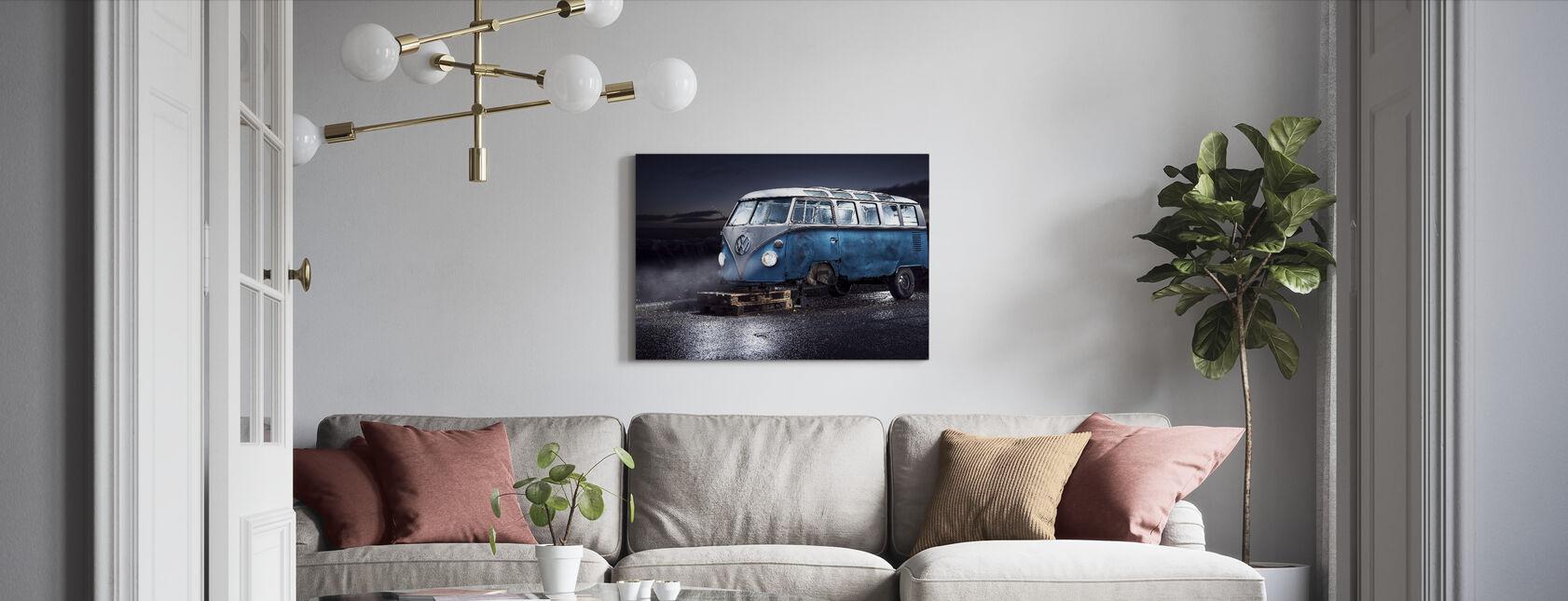 VW Kleinbus - Leinwandbild - Wohnzimmer