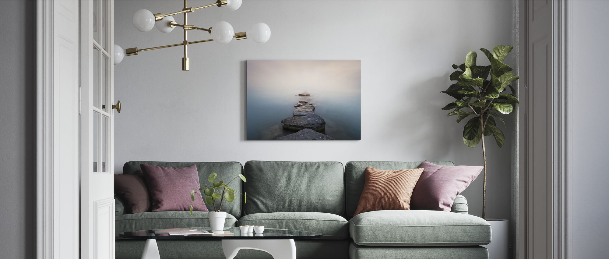 Stones - Canvas print - Living Room