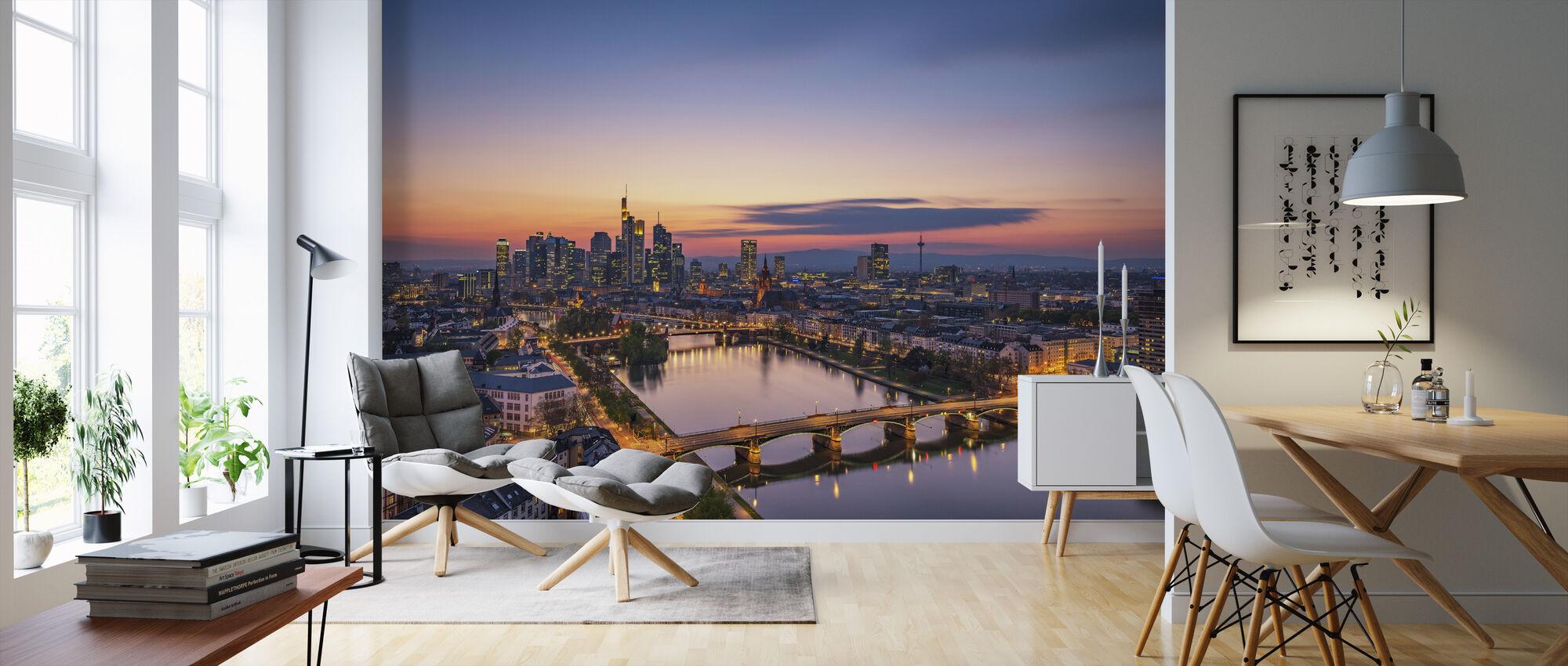 Frankfurt Skyline vid Sunset - Tapet - Vardagsrum