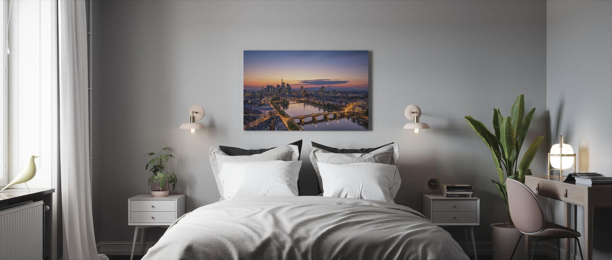 Frankfurt Skyline at Sunset - Canvas print - Bedroom