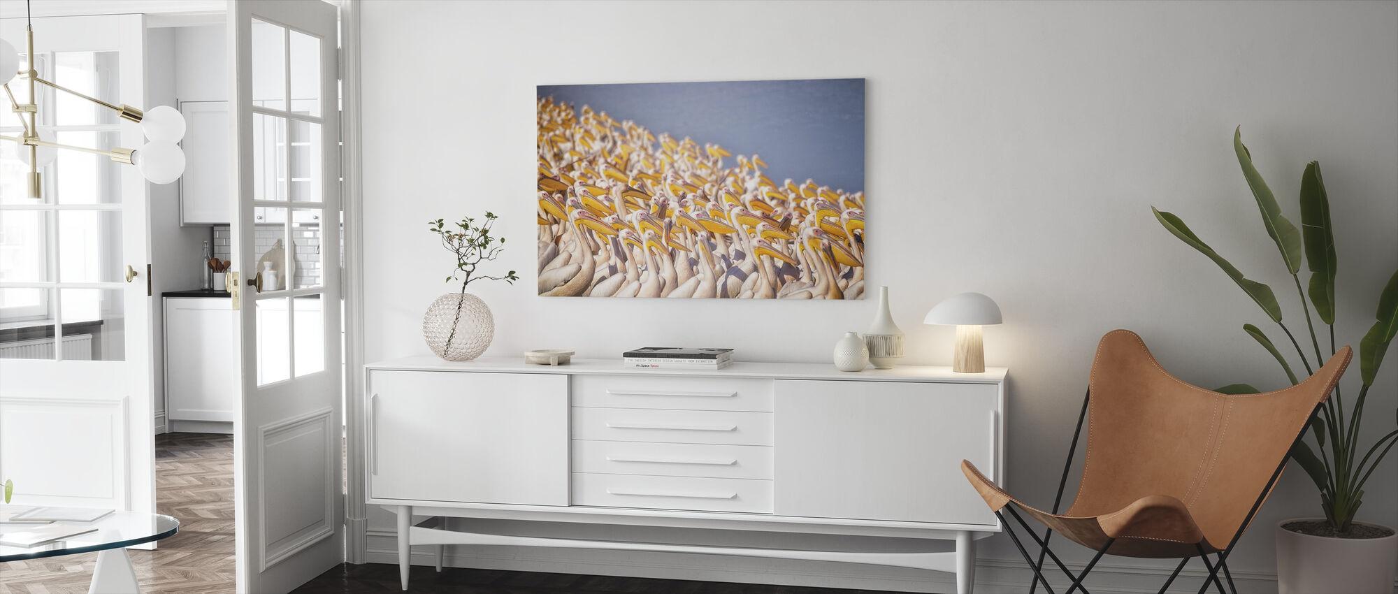 Pelicans - Canvas print - Living Room