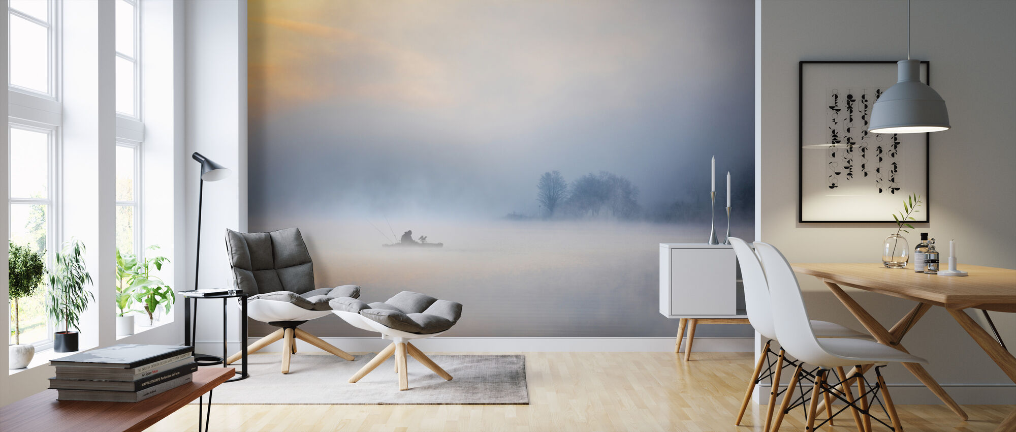 Fog in the Lake - Wallpaper - Living Room