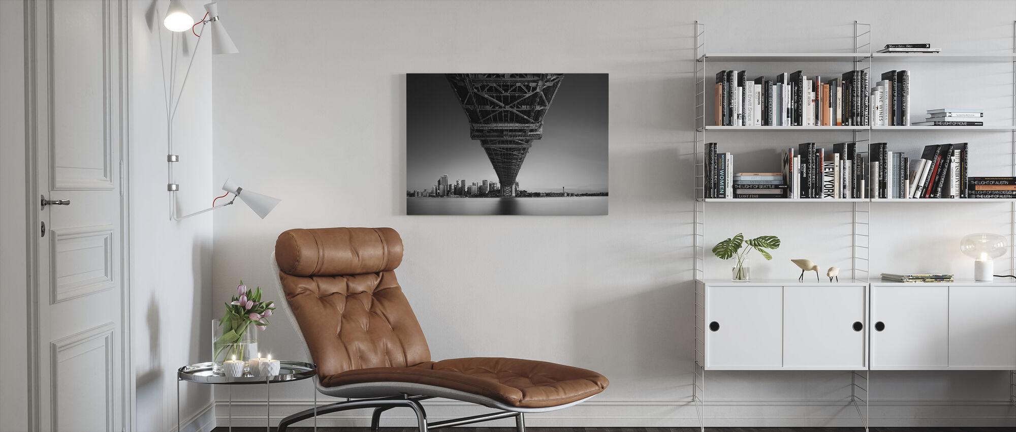 Back to Human Life - Canvas print - Living Room