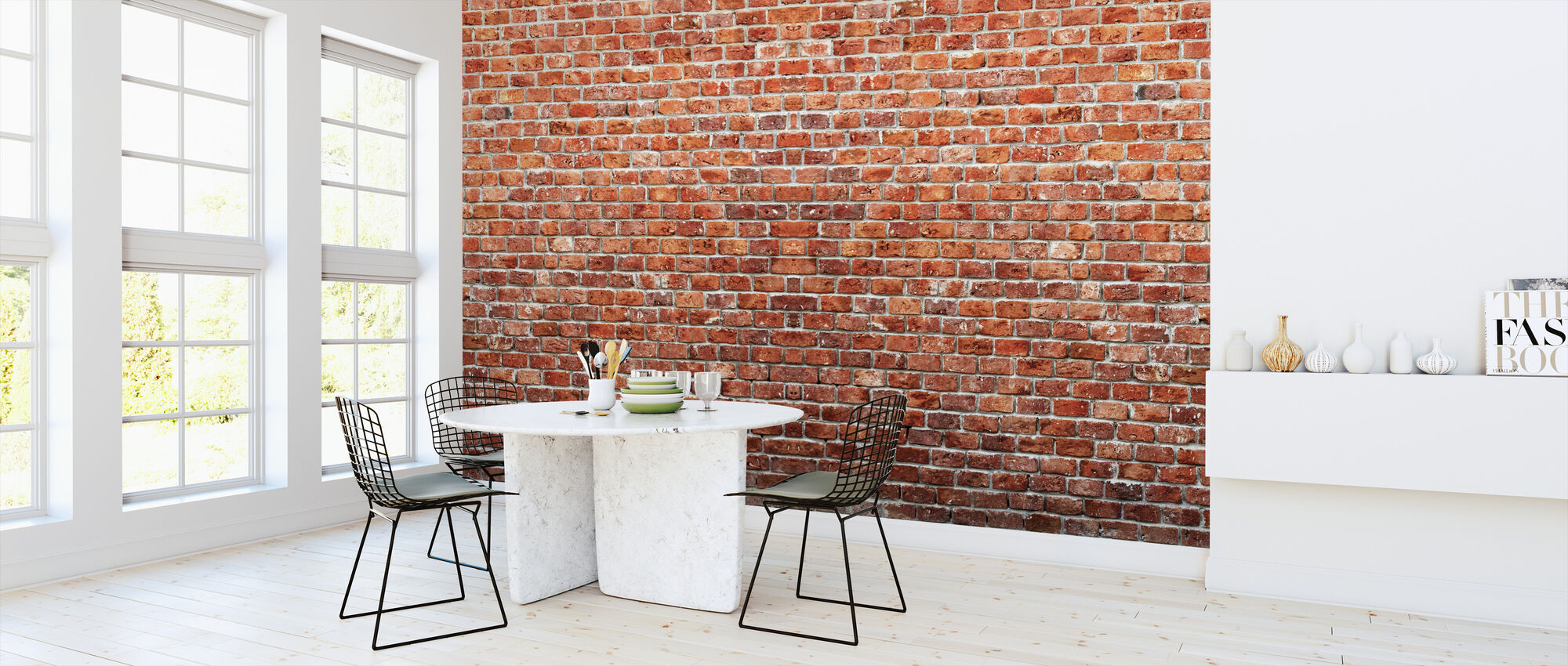 Brick Wall - Wallpaper - Kitchen