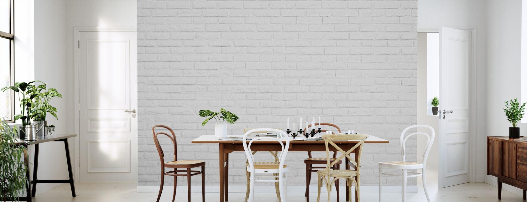 Pared de ladrillo blanco - Papel pintado - Cocina