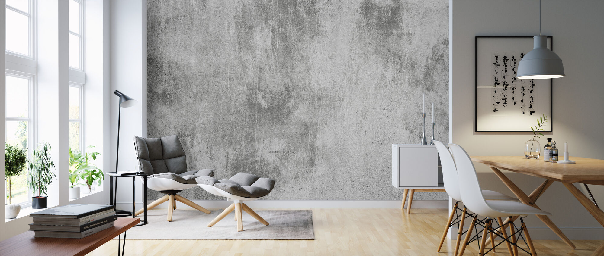Concrete Wall - Wallpaper - Living Room