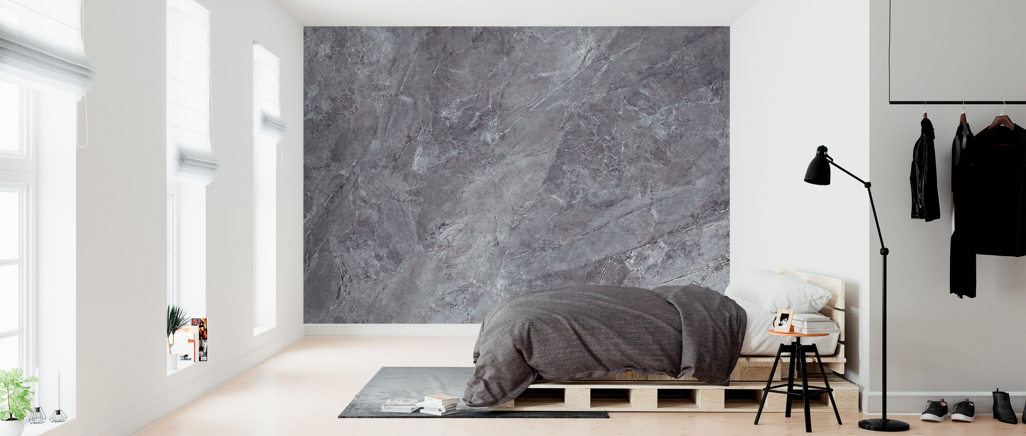 Smooth Lilac Marble - Wallpaper - Bedroom