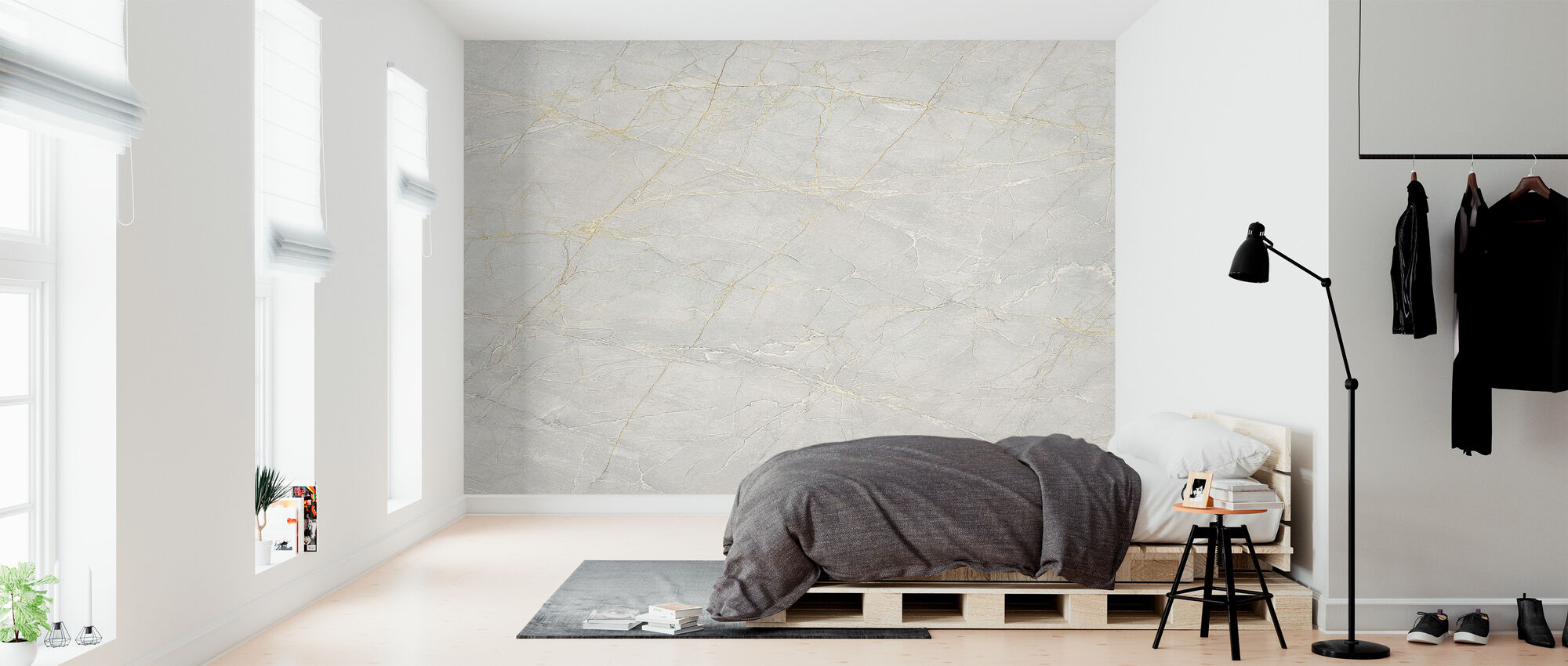 Buff Marble - Wallpaper - Bedroom