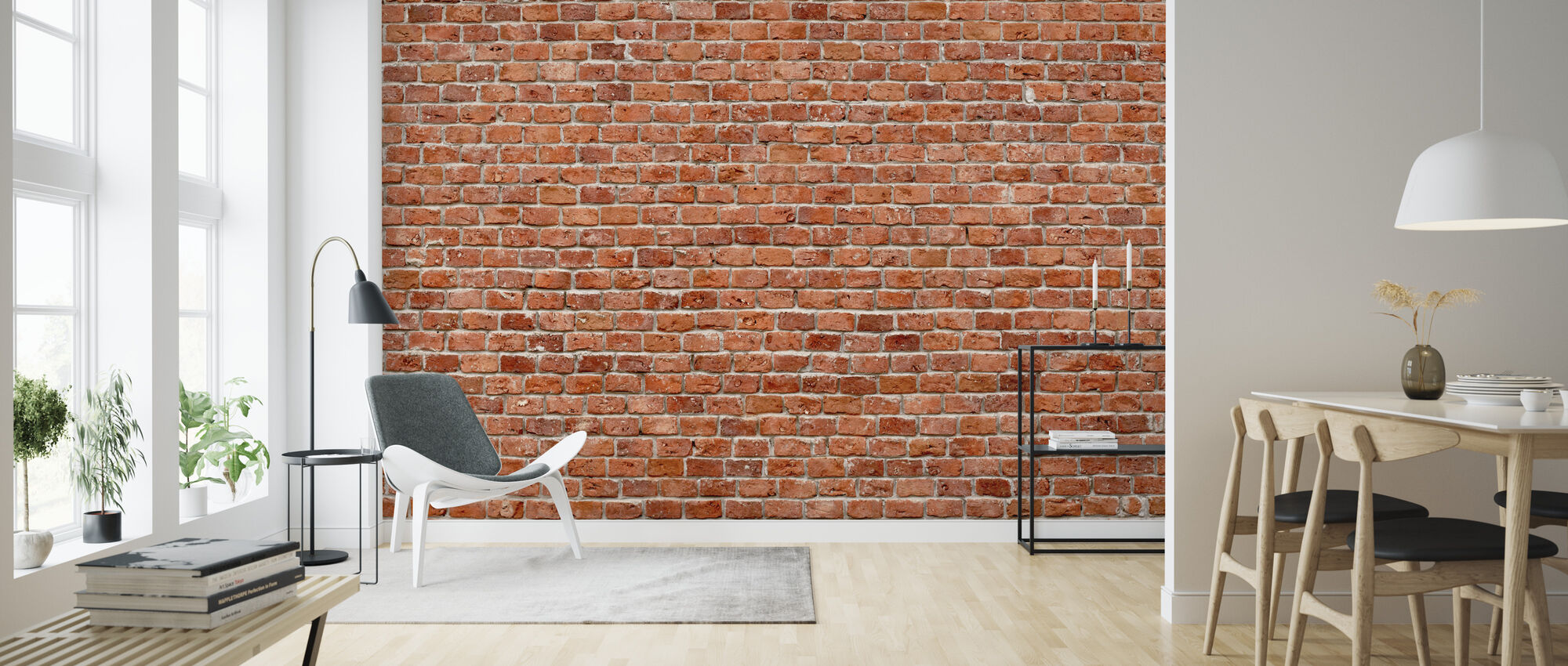 Brick Wall - Wallpaper - Living Room