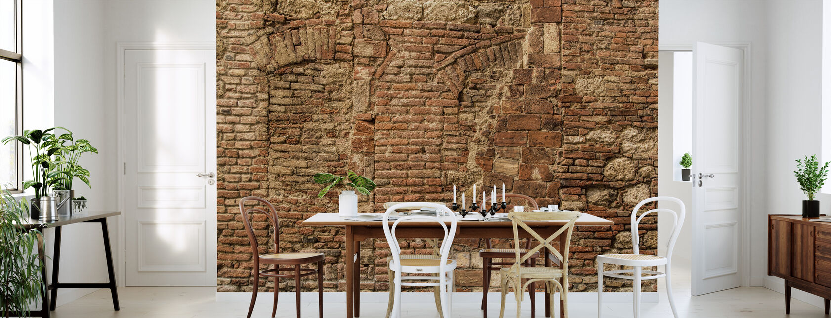 Italian Stone Wall - Wallpaper - Kitchen