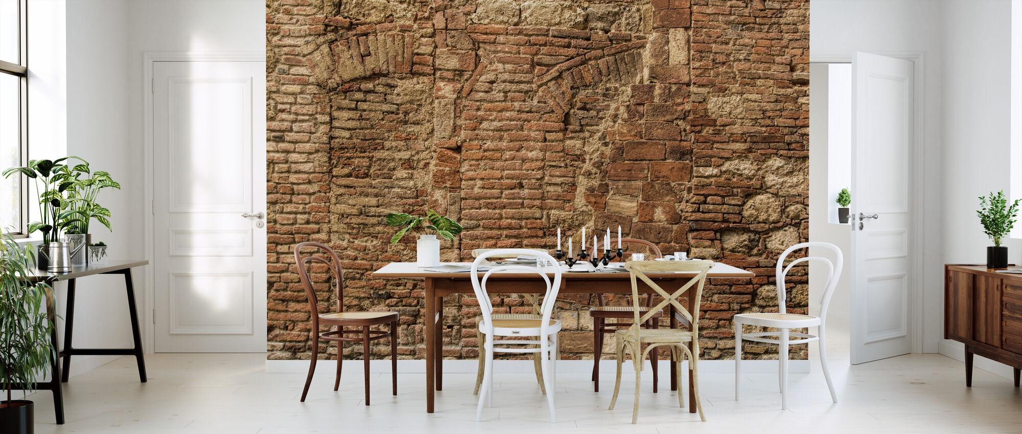 Italienische Steinmauer - Tapete - Küchen