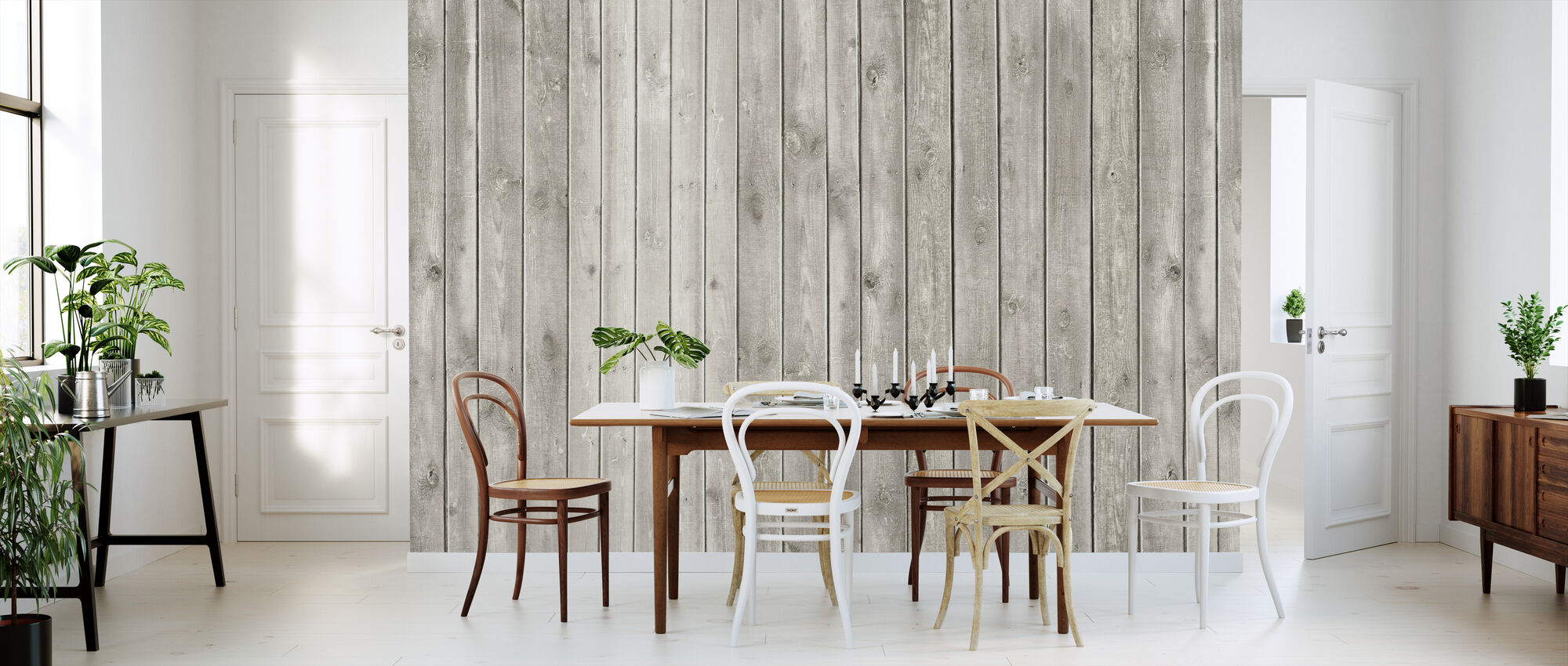 Faded Natural Wood - Wallpaper - Kitchen