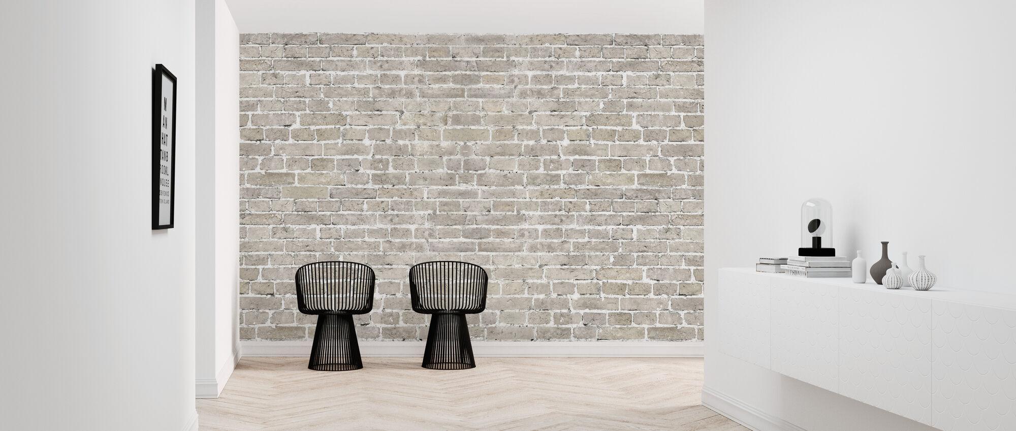 Gamle murstensvæg - Tapet - Entré