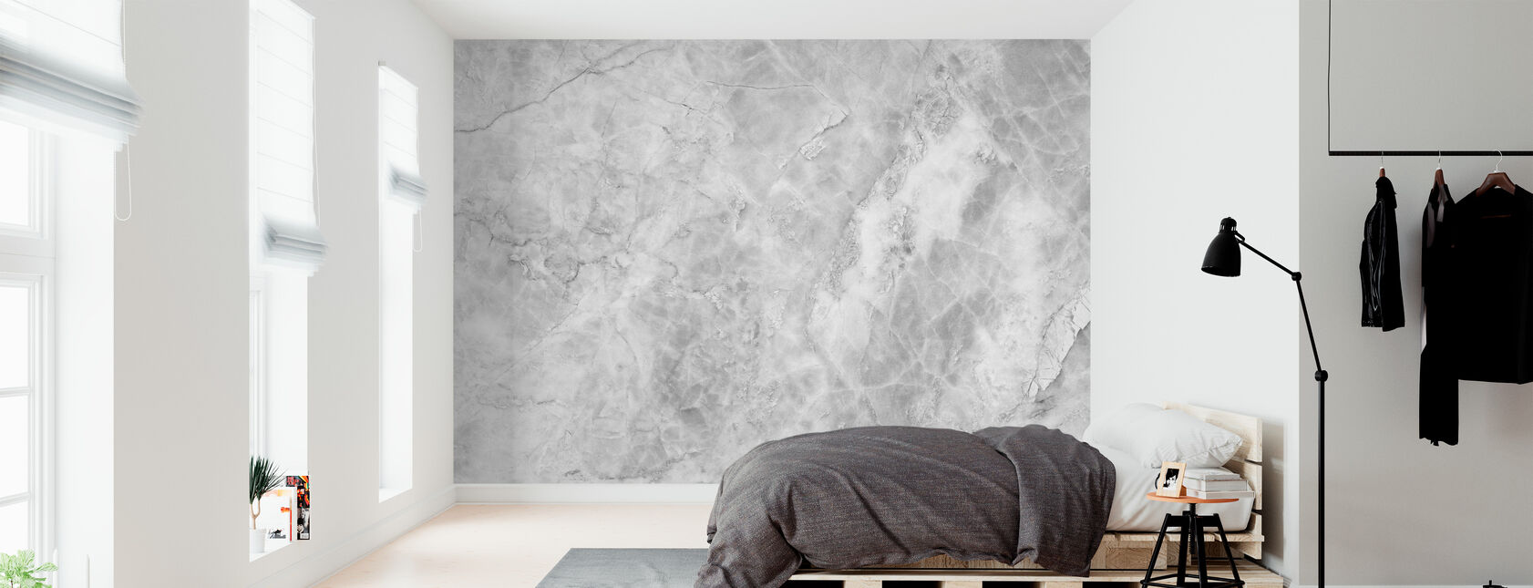 White Marble Background - Wallpaper - Bedroom