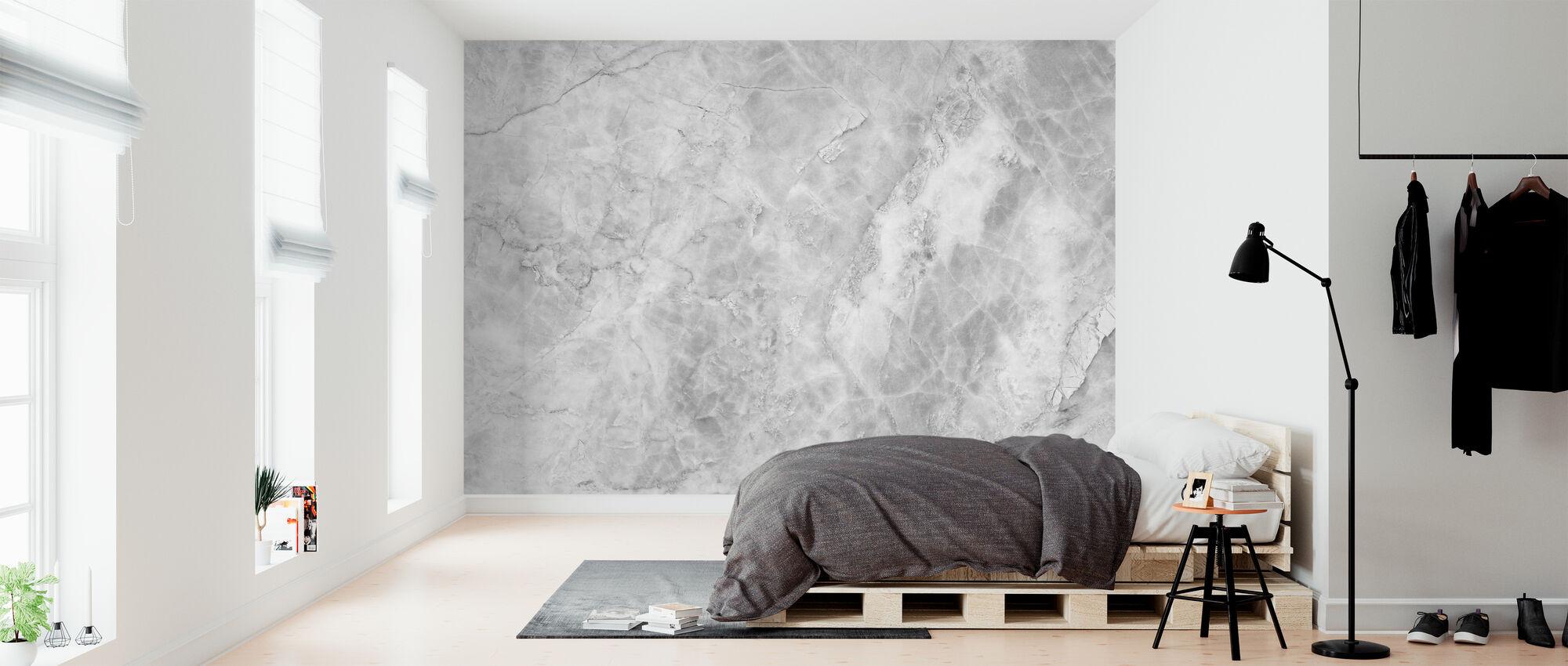 White Marble Background - Wallpaper - Bedroom