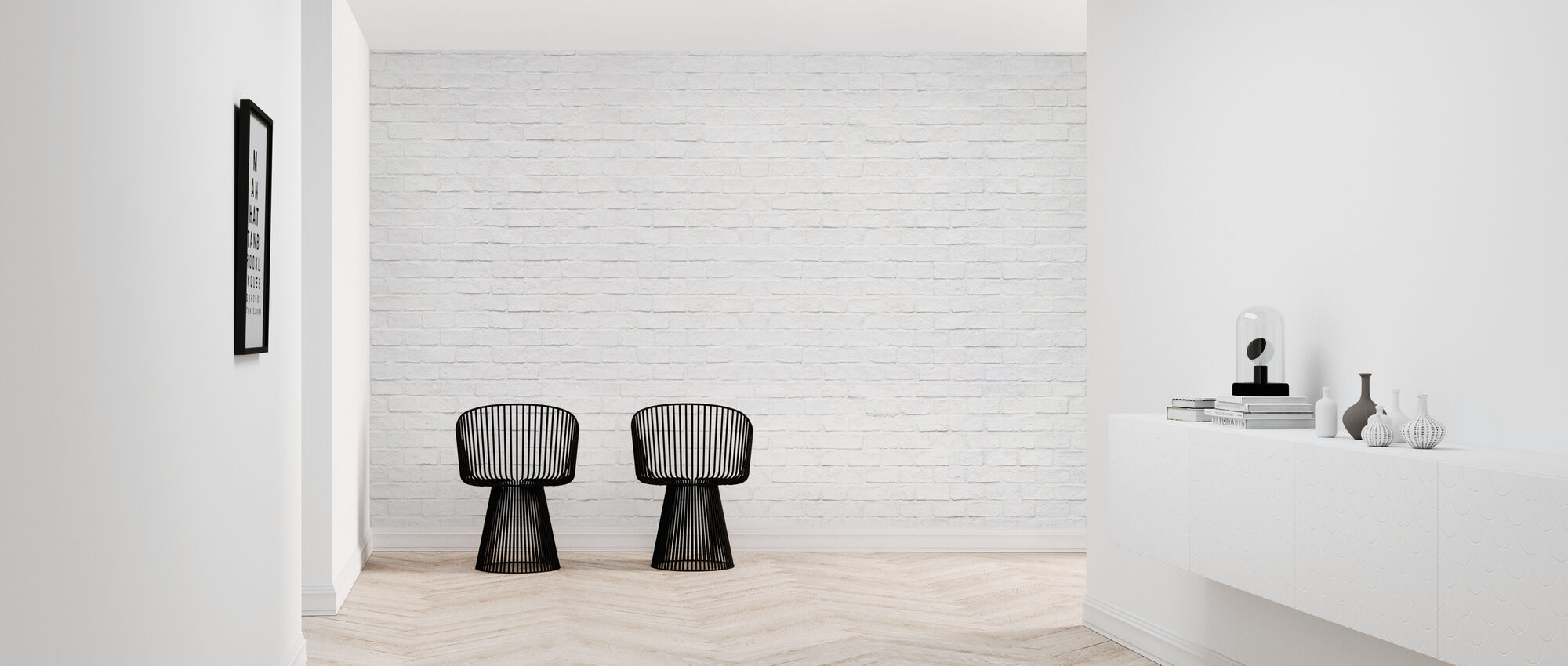 Modern Brick Wall - Wallpaper - Hallway