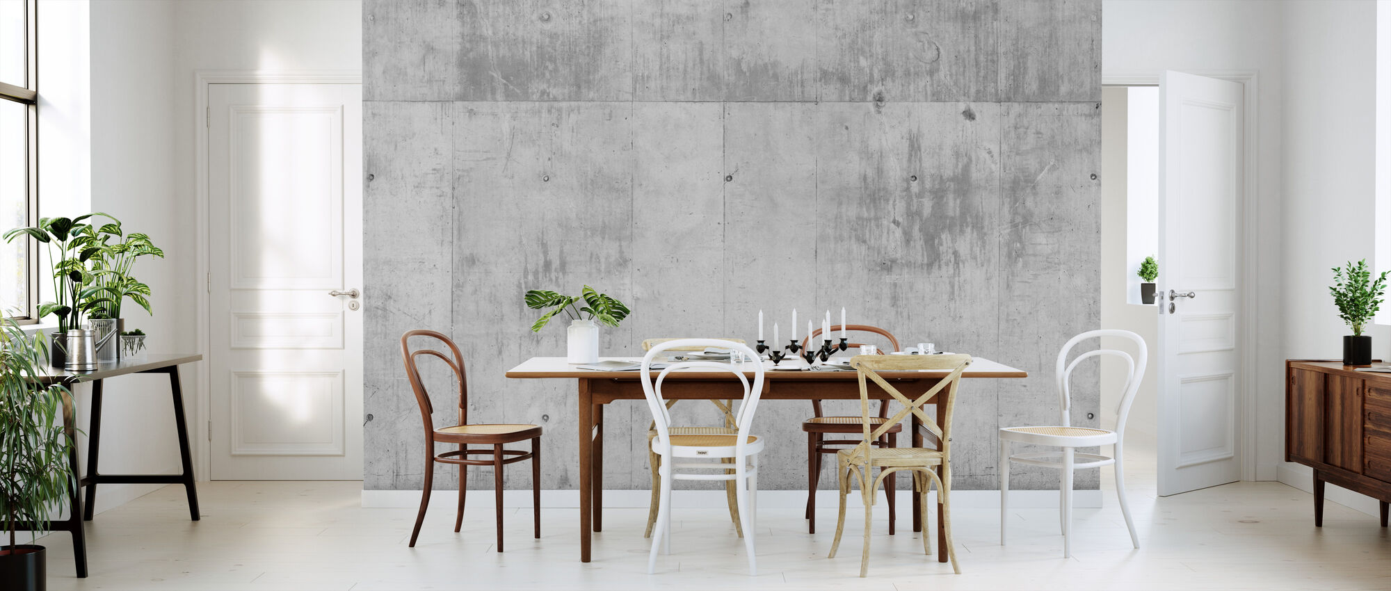 Concrete Wall - Wallpaper - Kitchen