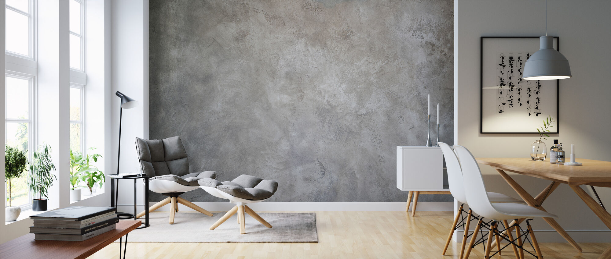 Torn Concrete WAll - Wallpaper - Living Room