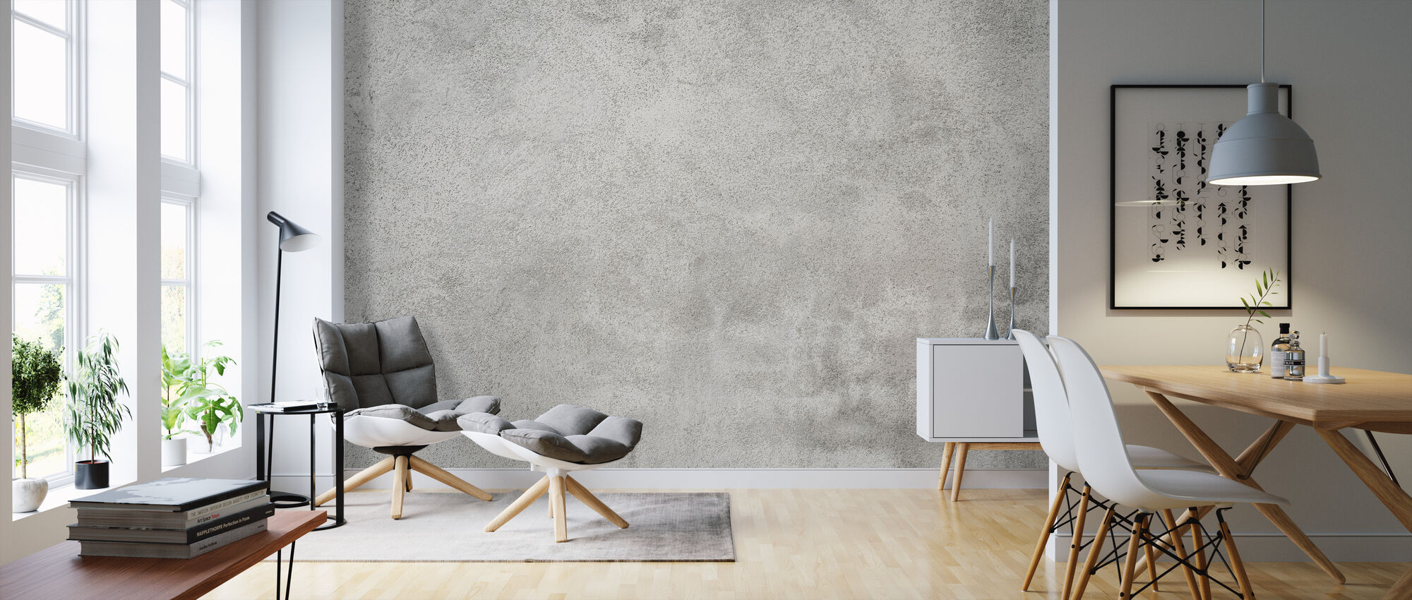 Grunge Concrete Wall - Wallpaper - Living Room