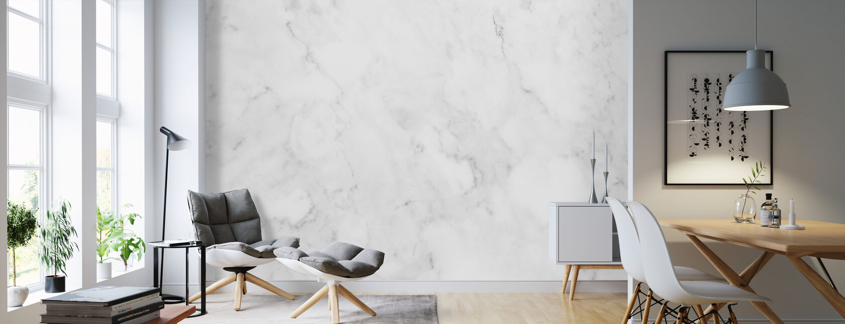 Light Marble - Wallpaper - Living Room