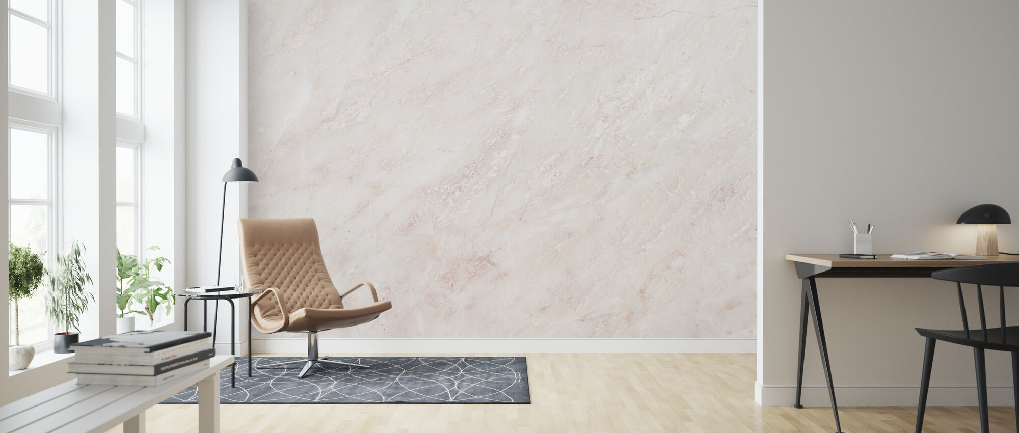 Marble Wall - Wallpaper - Living Room