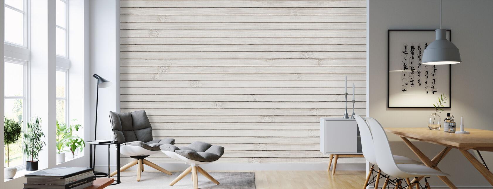 Natural Bamboo Wood - Wallpaper - Living Room