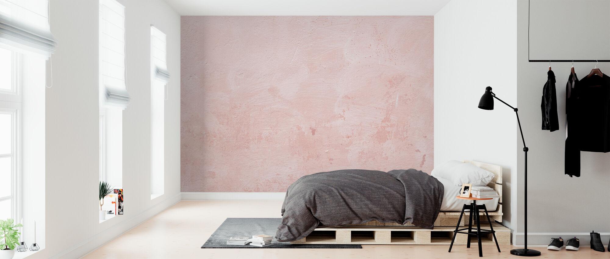 Rosa vägg - Tapet - Sovrum