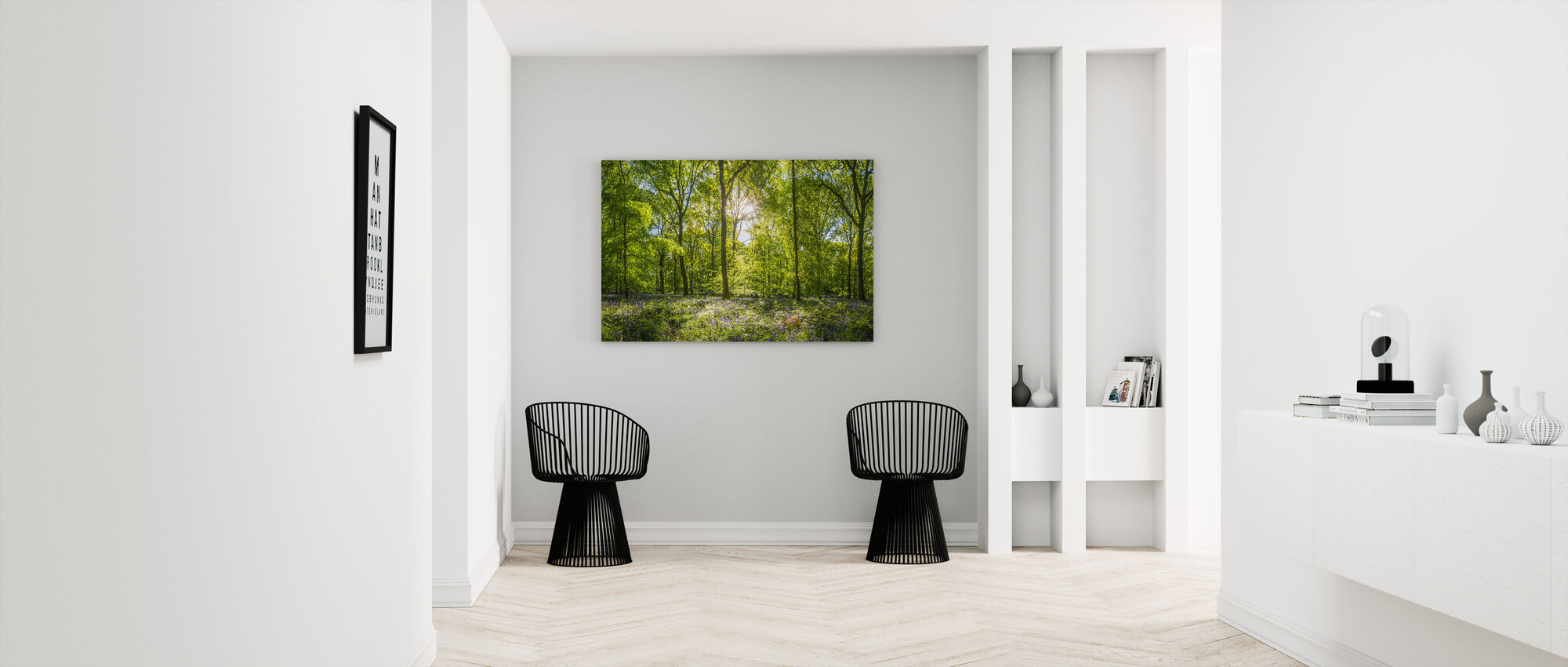 Wildblumen Wald - Leinwandbild - Flur