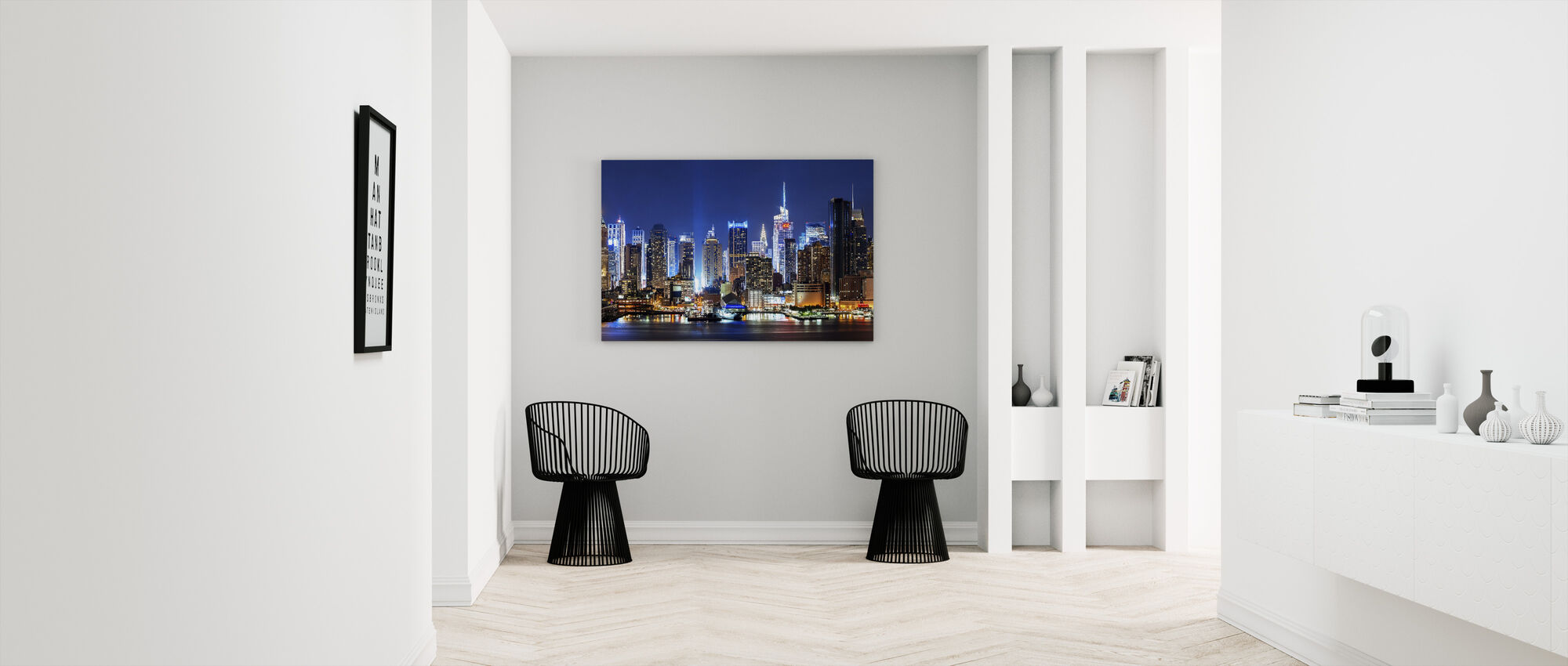 New York City Night Skyline - Canvas print - Hallway