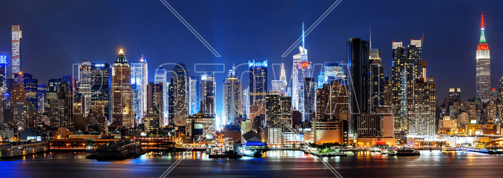 New York City Night Skyline Popular Wall Mural Photowall