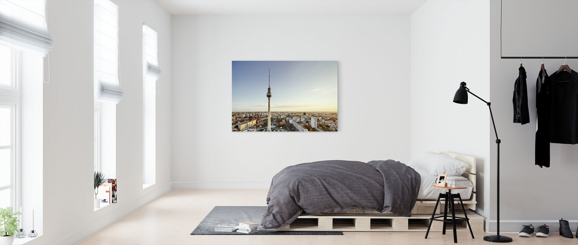 Berlin Tv Tower at Sunset - Canvas print - Bedroom