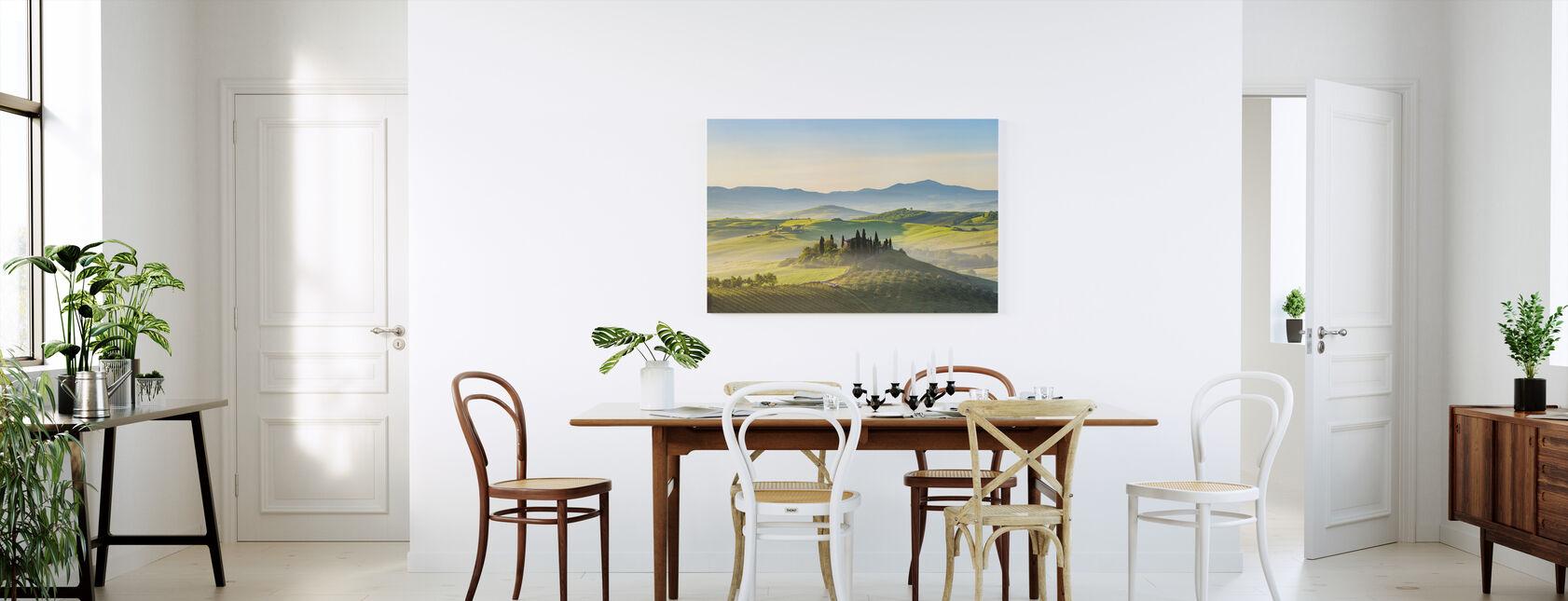Toscane in de lente ochtend - Canvas print - Keuken