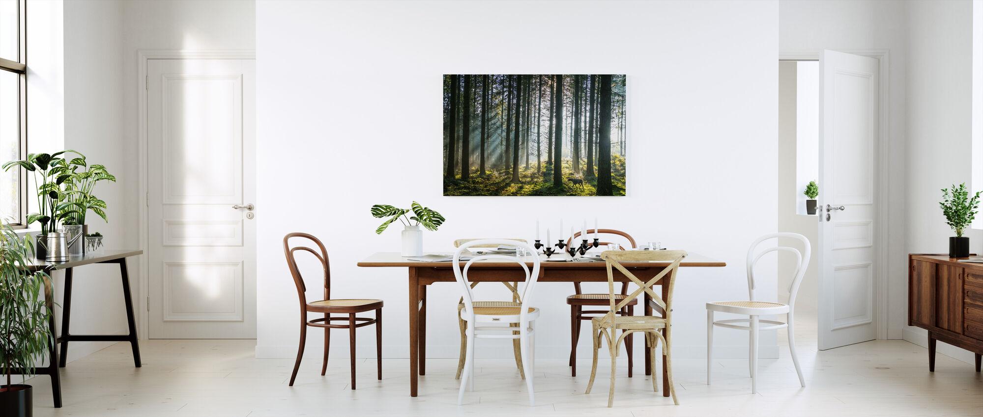 Misty Pine Forest - Canvas print - Kitchen