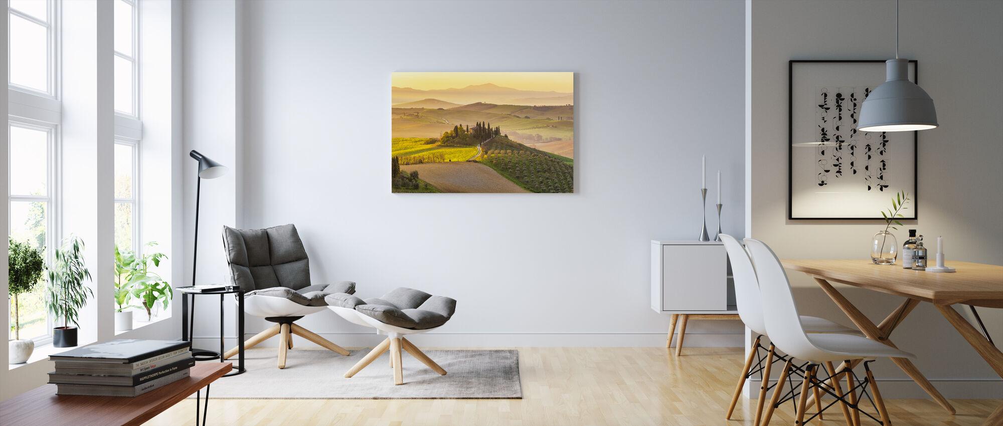 Toscane Wijngaard - Canvas print - Woonkamer
