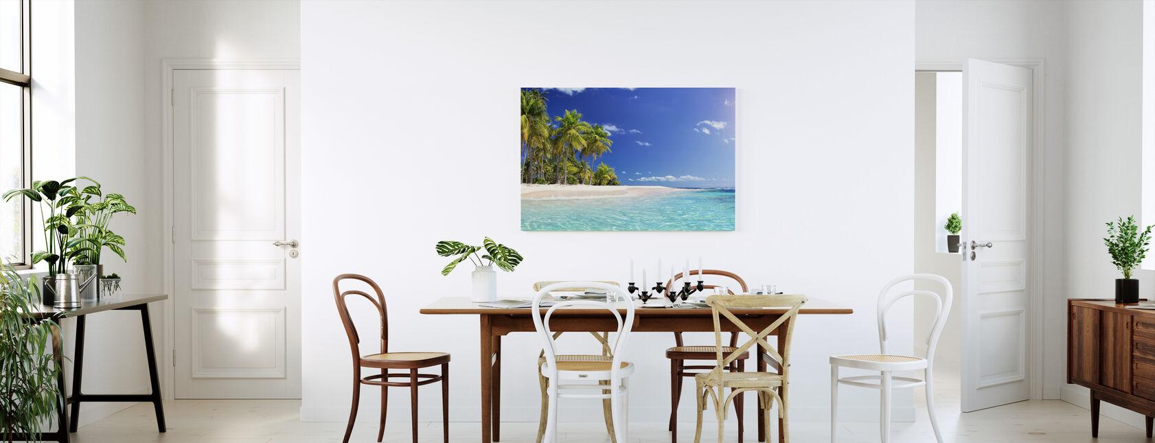 Palm Tree Beach - Canvas print - Kitchen
