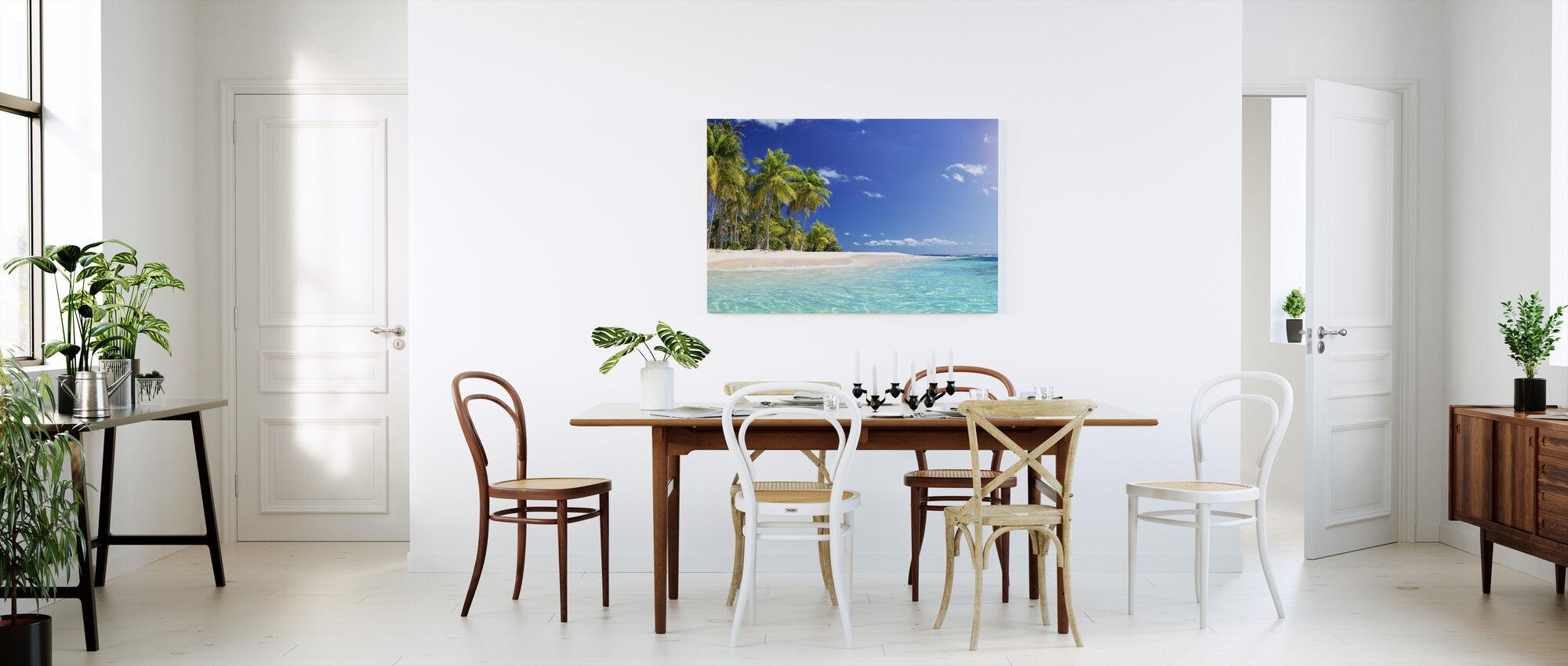 Palm Tree Beach - Billede på lærred - Køkken